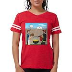 Unsafe Turkey Frying Womens Football Shirt