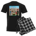 Unsafe Turkey Frying Men's Dark Pajamas