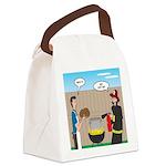 Unsafe Turkey Frying Canvas Lunch Bag