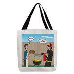 Unsafe Turkey Frying Polyester Tote Bag
