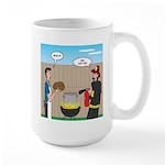 Unsafe Turkey Frying 15 oz Ceramic Large Mug