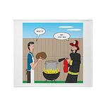 Unsafe Turkey Frying Throw Blanket