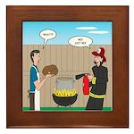 Unsafe Turkey Frying Framed Tile