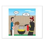 Unsafe Turkey Frying Small Poster