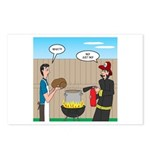 Unsafe Turkey Frying Postcards (Package of 8)