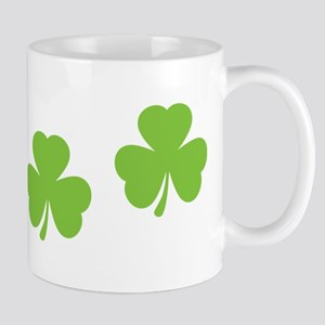 three 3 shamrocks Mug