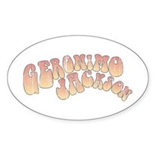 Geronimo Jackson Oval Sticker