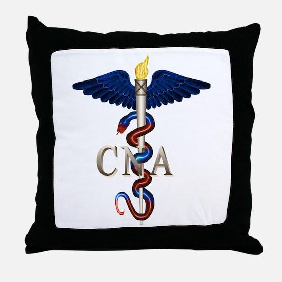 CNA Caduceus Throw Pillow