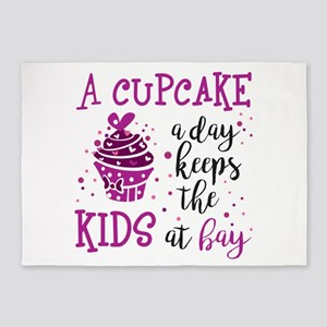 A Cupcake a Day Keeps the Kids at B 5'x7'Area Rug