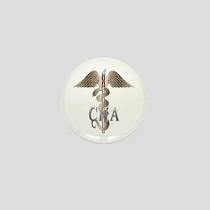 CNA Caduceus Mini Button