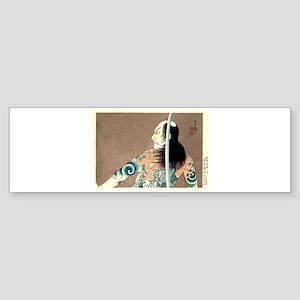 Classic Japanese Legendary Samurai Bumper Sticker