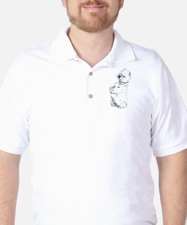West Highland White Terrier Westie Golf Shirt