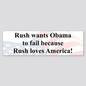 """Rush Loves America"" Sticker (Bumper)"