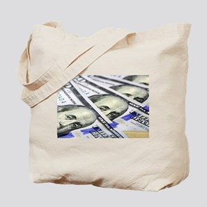 US Currency One Hundred Dollar Bill Tote Bag