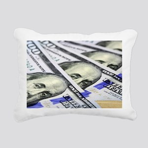 US Currency One Hundred Rectangular Canvas Pillow