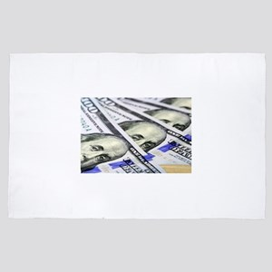 US Currency One Hundred Dollar Bill 4' x 6' Rug