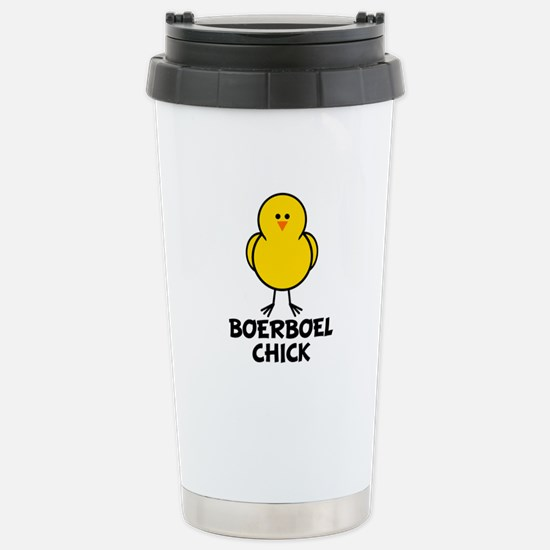 Boerboel Chick Stainless Steel Travel Mug
