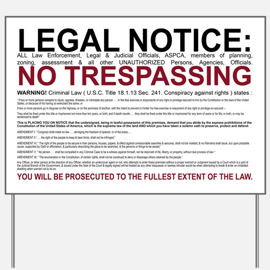 Security Signs Yard Sign