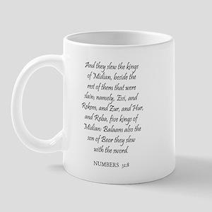 NUMBERS  31:8 Mug