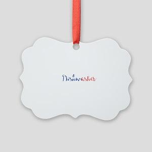 Dishwasher Picture Ornament