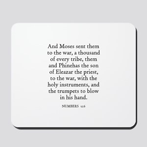 NUMBERS  31:6 Mousepad