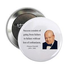 "Winston Churchill 21 2.25"" Button"