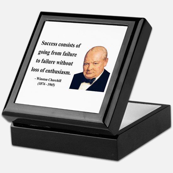 Winston Churchill 21 Keepsake Box