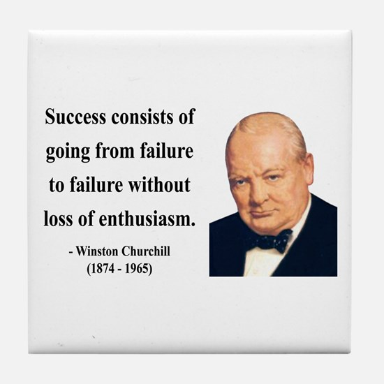 Winston Churchill 21 Tile Coaster