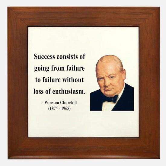 Winston Churchill 21 Framed Tile