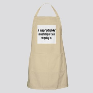 Old Age Getting Lucky Humor BBQ Apron
