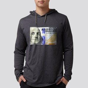 US Currency One Hundred Dollar Long Sleeve T-Shirt