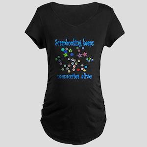Scrapbooking Maternity Dark T-Shirt