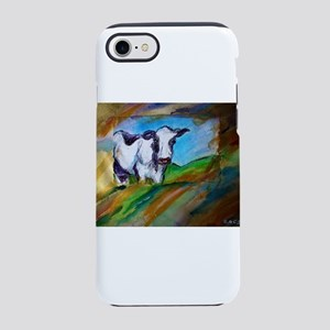 Cow! Bright, animal art! iPhone 7 Tough Case