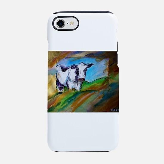 Cow! Bright, animal art! iPhone 7 Tough Case
