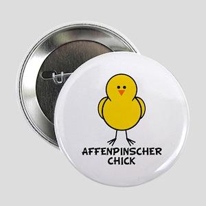 """Affenpinscher Chick 2.25"""" Button"""