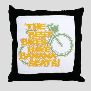 Banana Seat Bike Throw Pillow