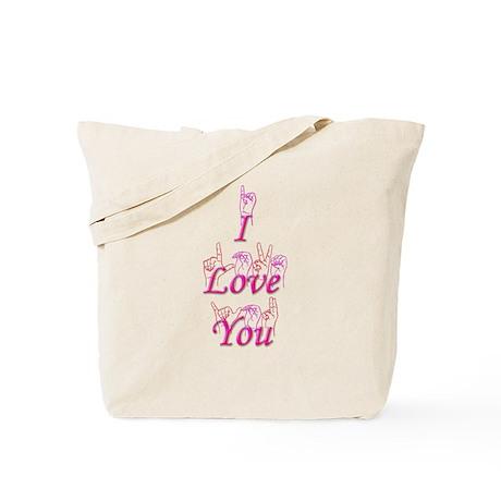 I Love You fingerspelled Tote Bag