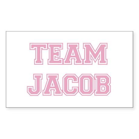 TEAM JACOB (pink) Rectangle Sticker