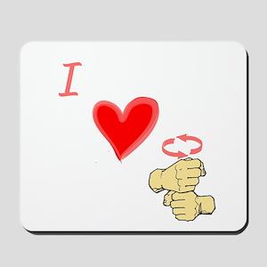 I Love Coffee in ASL Mousepad