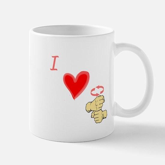 I Love Coffee in ASL Mug
