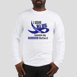 I Wear Blue For My Grandma 33 CC Long Sleeve T-Shi