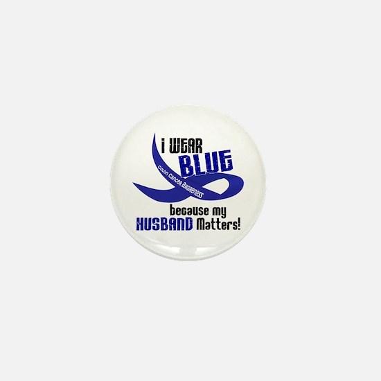 I Wear Blue For My Husband 33 CC Mini Button