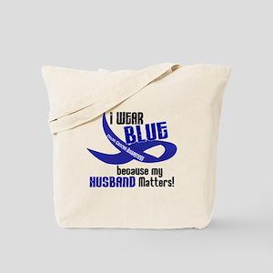 I Wear Blue For My Husband 33 CC Tote Bag