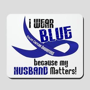 I Wear Blue For My Husband 33 CC Mousepad