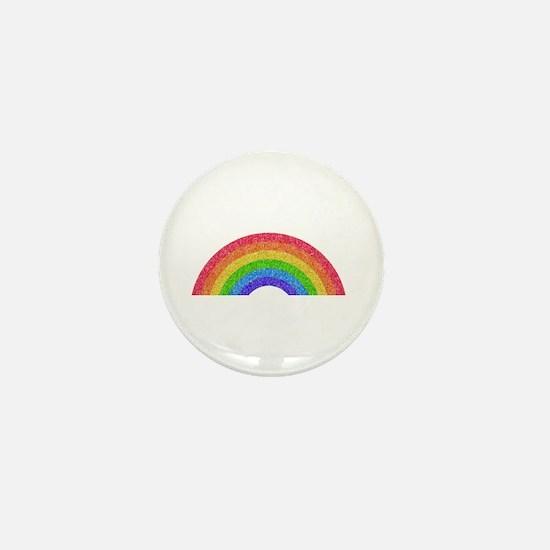 Sparkle Rainbow Mini Button