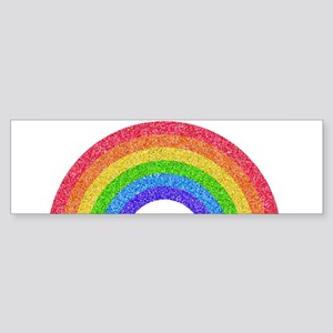 Sparkle Rainbow Bumper Sticker