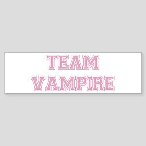 TEAM VAMPIRE (pink) Bumper Sticker