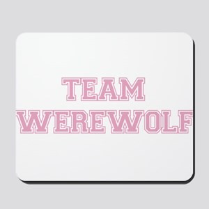 TEAM WEREWOLF (pink) Mousepad