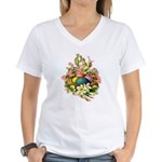 Springtime Easter Basket Women's V-Neck T-Shirt