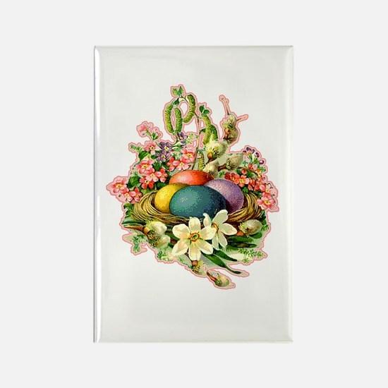 Springtime Easter Basket Rectangle Magnet